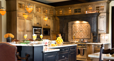 V6B rustic italian style kitchen design