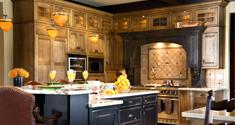 V6B rustic italian style kitchen design